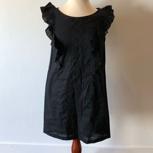 New Summer Black Dress with Beautiful Embroidery